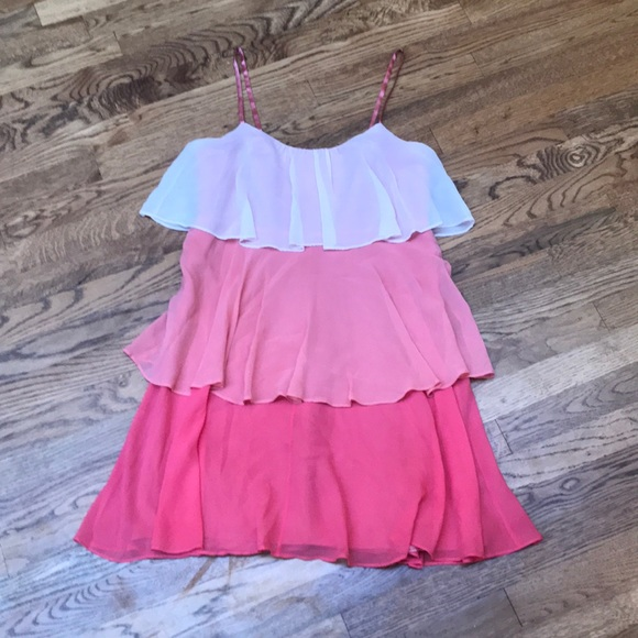 Laundry By Shelli Segal Dresses & Skirts - Pink Ombré Tiered Dress
